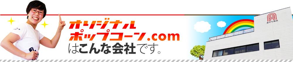 オリジナルポップコーン.comはこんな会社です。